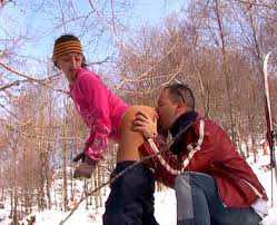 Plan baise à la montagne